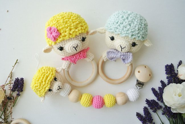 Adorable Spring and Easter Crochet Patterns Perfect For Easter Baskets: Spring Lamb Crochet Pattern from RNata