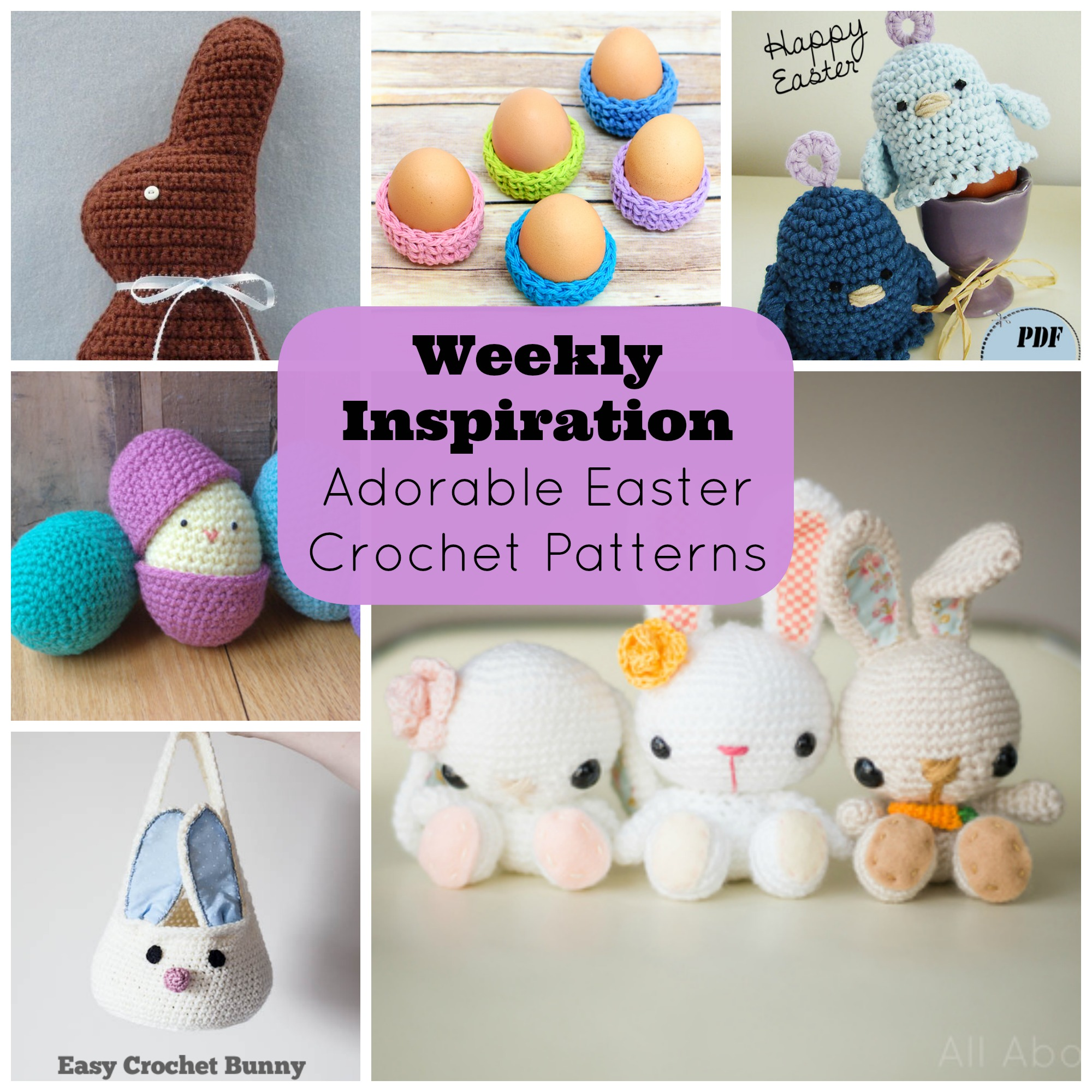 Weekly inspiration adorable easter crochet patterns perfect for weekly inspiration adorable easter crochet patterns perfect for easter baskets sew creative blogsew creative blog negle Images
