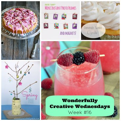 Link Up Your Best DIY, Craft & Food Posts at Wonderfully Creative Wednesday Week 16