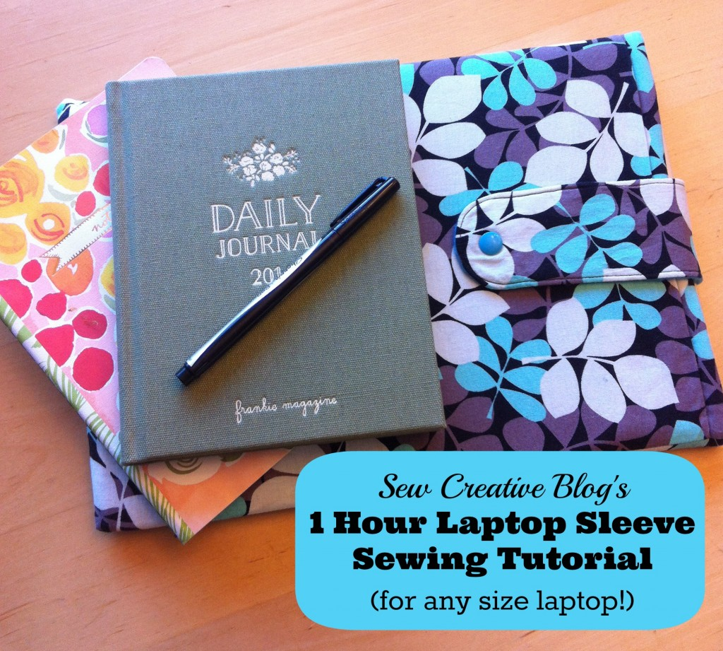 1 Hour DIY Laptop Sleeve Sewing Tutorial (For Any Size Laptop!)