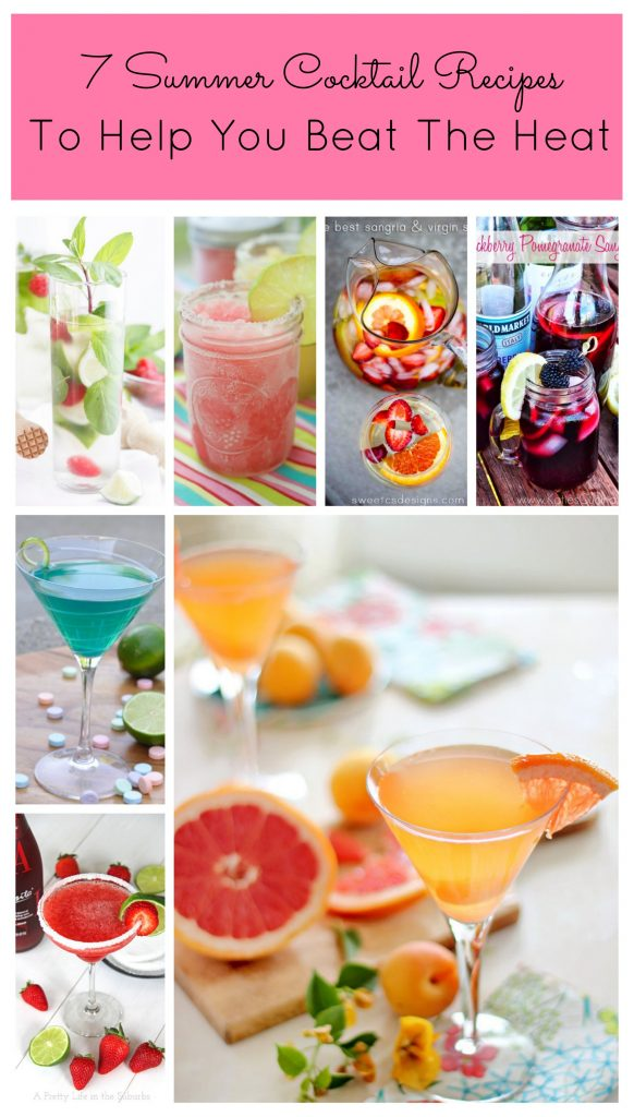 7 Mouthwatering Summer Cocktail Recipes To Help You Beat The Heat including unique sangrias, margaritas, martinis and mojitos