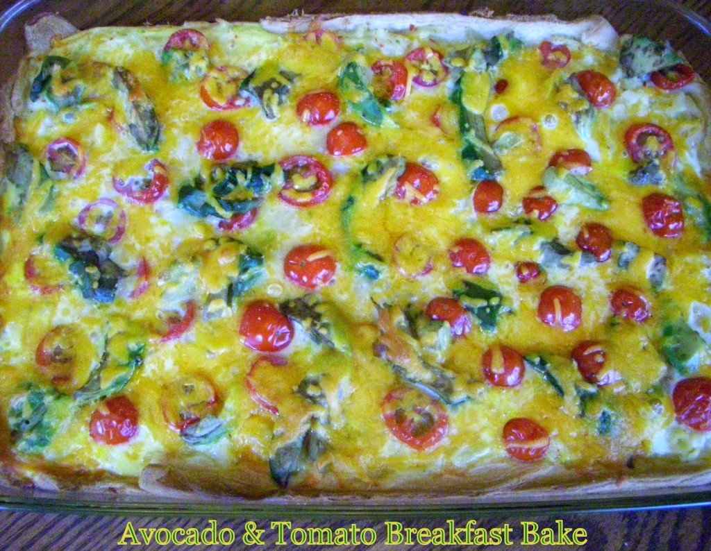Avocado and Tomato Breakfast bake