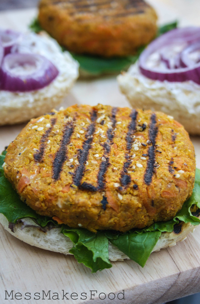 Carrot Chickpea Burgers