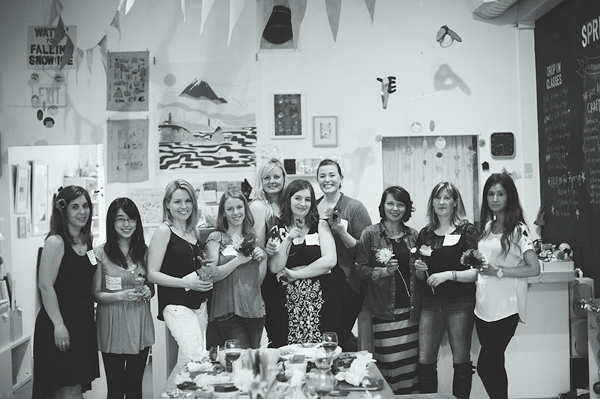 Crafting night with West Coast Creative Living Bloggers at Collage Collage 11