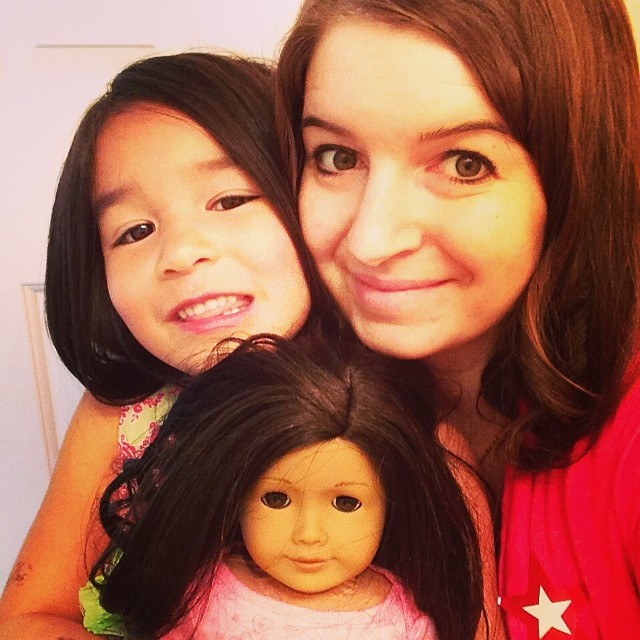 Crystal, Bean and Robyn Ryleigh our new American Girl Doll Number 42