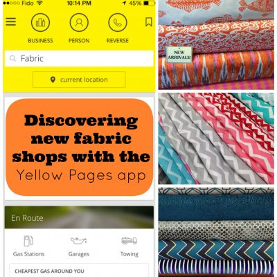 Discovering new fabric shops with the Yellow Pages app