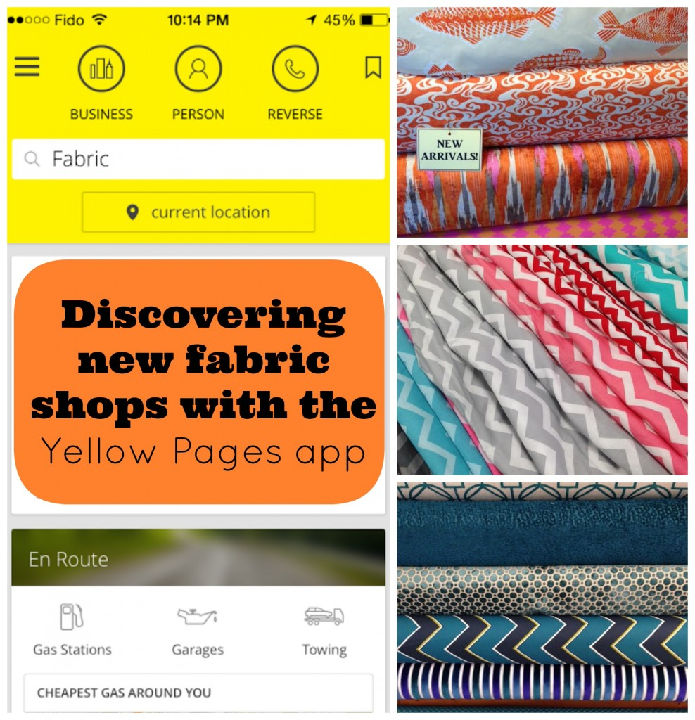 Discovering new fabric shops with the Yellow Pages app.jpg
