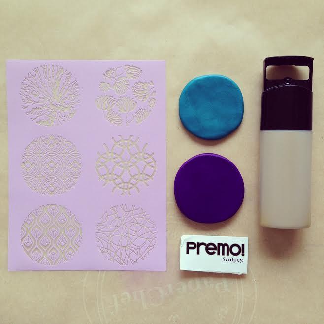 How to make silk screened Premo Sculpey Clay pendants 1
