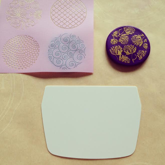 How to make silk screened  Premo Sculpey Clay pendants 2