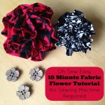 Oh Sew Easy 10 Minute Fabric Flower Tutorial No Sewing Machine Required FP