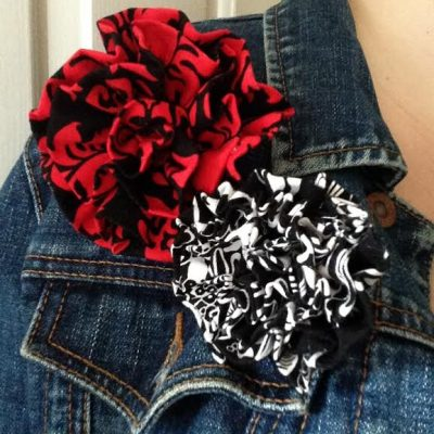 Oh Sew Easy 10 Minute Fabric Flower Tutorial No Sewing Machine Required
