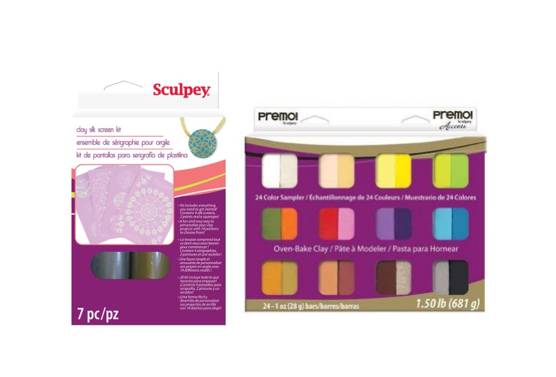 Premo Sculpey Sample Pack and Screenprinting kit
