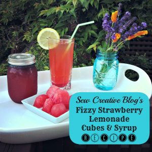Sew-Creative-Blogs-Fizzy-Strawberry-Lemonade-Cubes-and-Syrup-Recipe