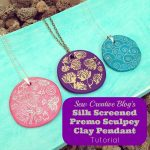 Silk Screened Premo Sculpey Clay Pendant Tutorial. So easy children can make them too