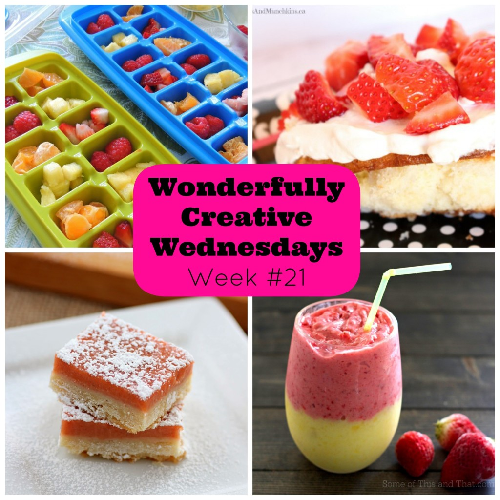 Week 21 Wonderfully Creative Wednesday Link Party Featuring Strawberries
