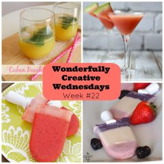 DIY, Food and Craft Link Party Time! Wonderfully Creative Wednesdays Week 22