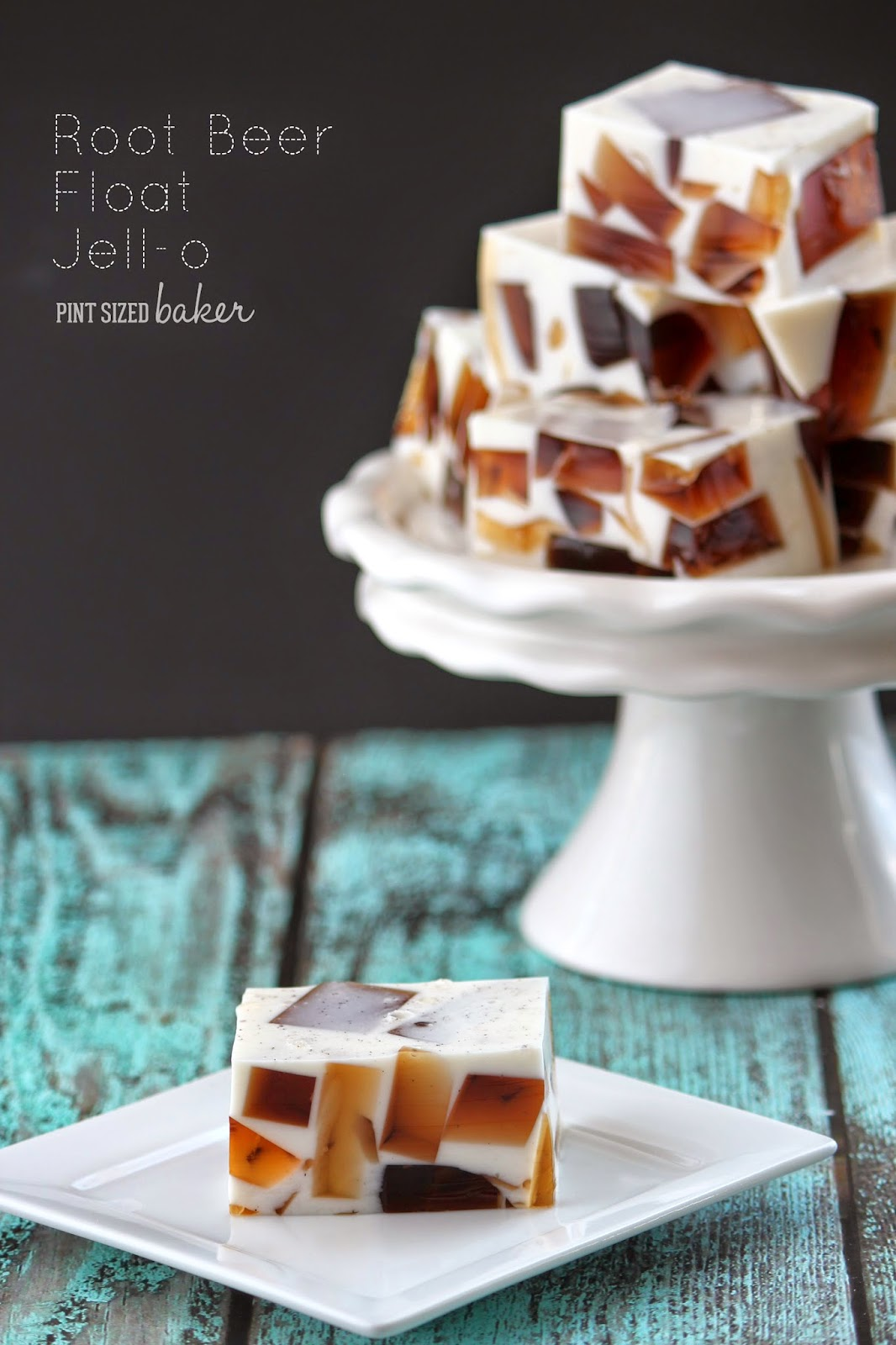 Root Beer Float Jello from Pint Sized Baker