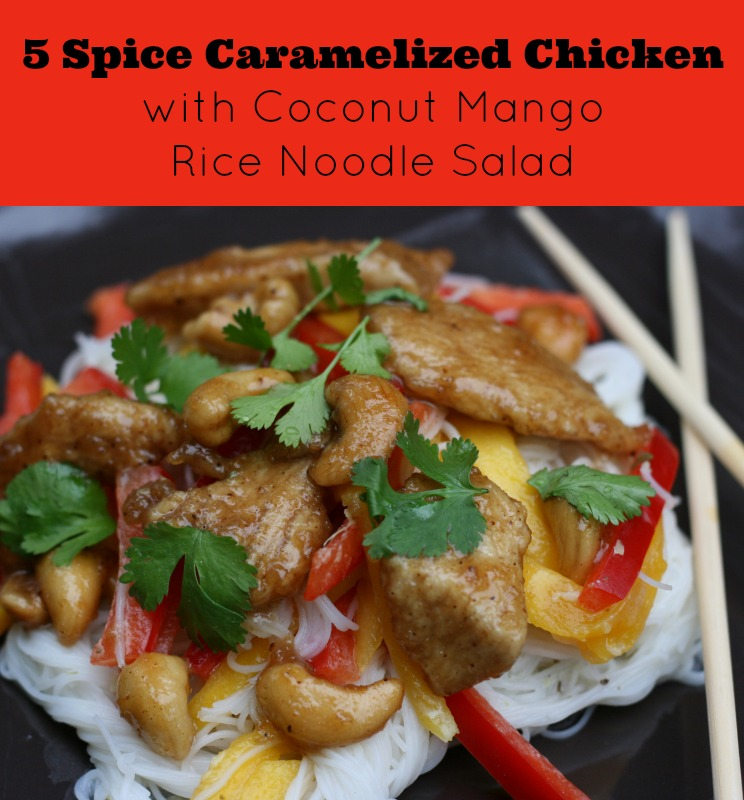Spice Caramel Chicken With Coconut Rice Noodle Salad Recipe A Fresh