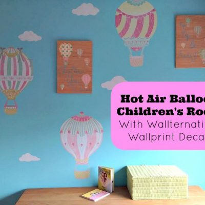 Hot Air Balloon Themed Children's Bedroom With Wallternatives Decals