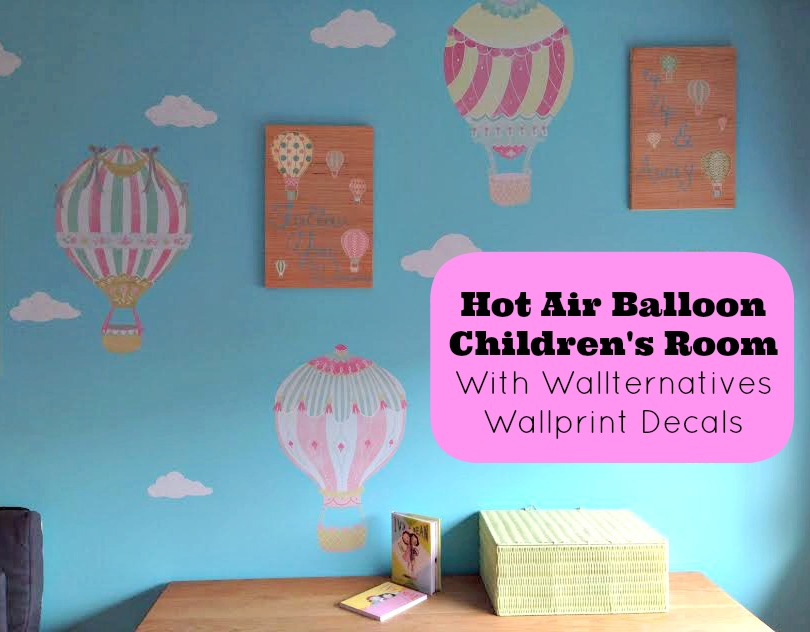 Hot Air Balloon  Children's Room  With Wallternatives Wallprint Decals