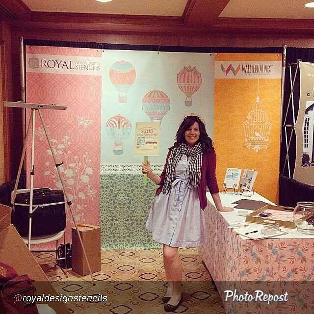 Royal Design Stencils Booth at SNAP