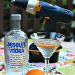 Sew Creative Maker Martini Recipe using Absolut Vodka the perfect summer cocktail