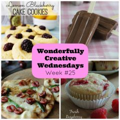 Wonderfully Creative Wednesdays DIY, Craft & Food Link Party Week 25