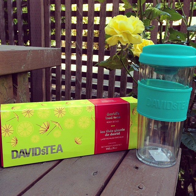 Favorite Things Friday DAVIDsTEA Summer Collection and $1 Iced Tea Mug