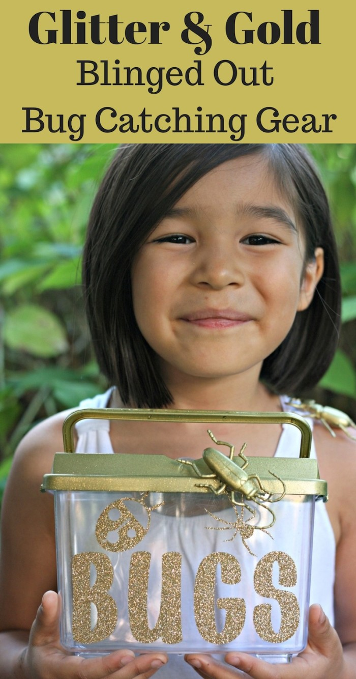 Glitter & Gold Blinged Out Bug Catcher Perfect For Bug Themed Birthday Party Favors