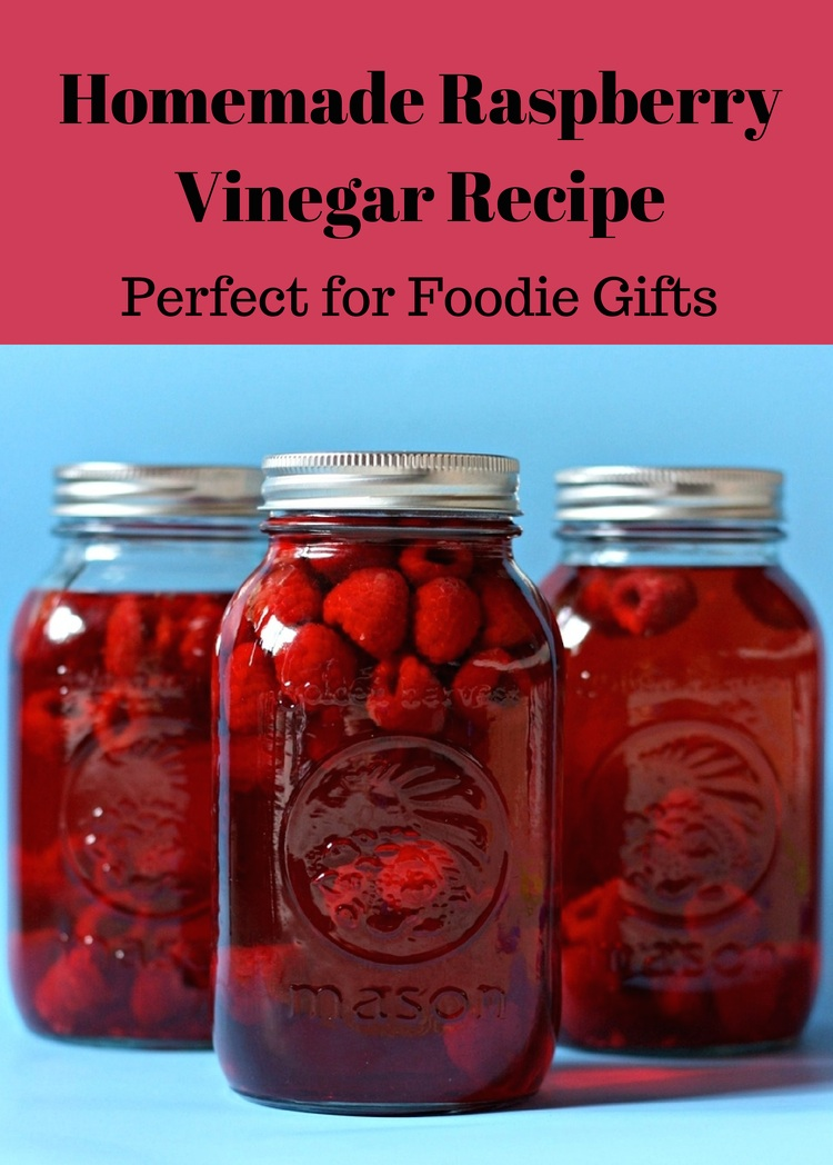 Homemade Raspberry Vinegar Recipe from Sew Creative. This recipe couldn't be easier and would make great Christmas gift idea for the foodies in my life