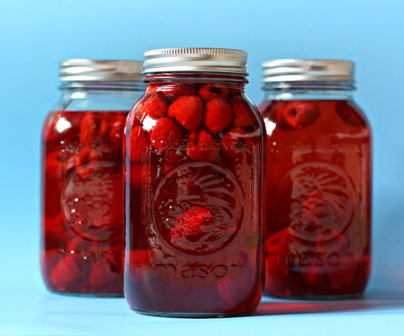 Homemade Raspberry Vinegar Recipe from Sew Creative. This recipe couldn't be easier and would make great Christmas gifts for foodies