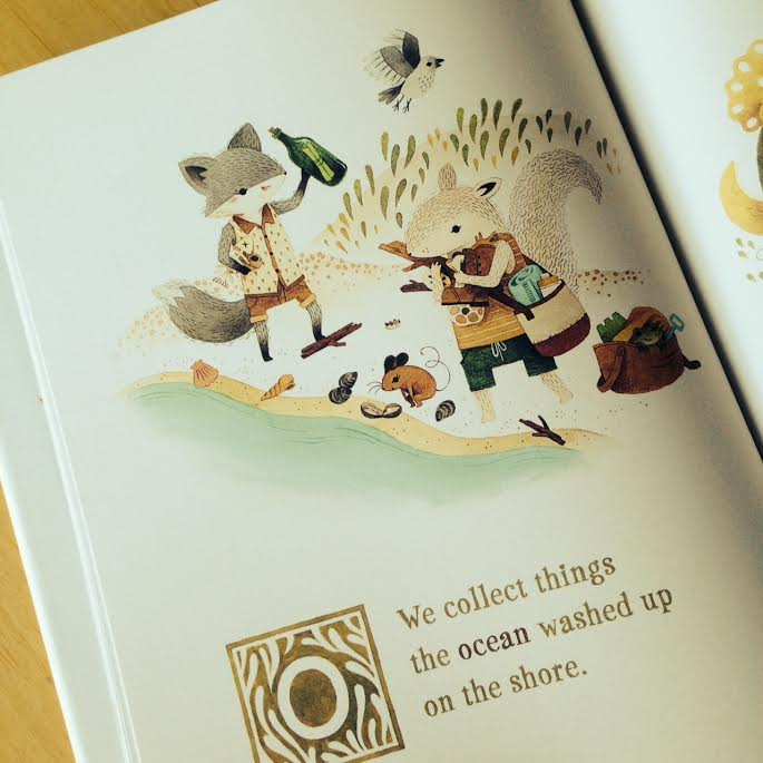 Page from Adventures of Barefoot Critters on Sew Creative's Favorite Things Friday