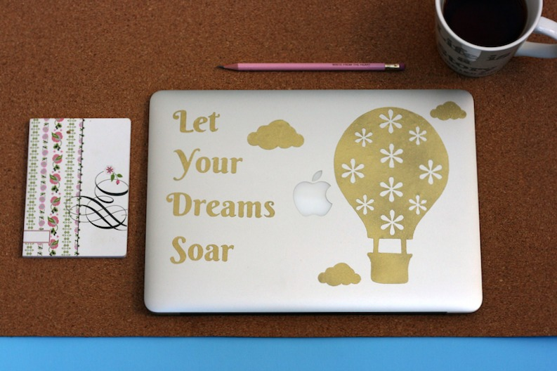 Sew Creative Cricut Design Space Star Challenge Let Your Dreams Soar Hot Air Balloon Laptop Decal