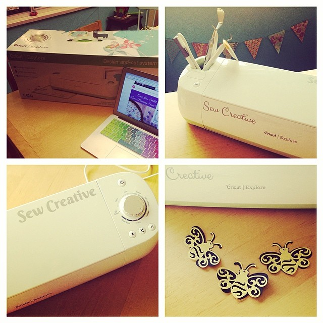 ...got the BIG NEWS that we'd been selected for the Cricut Design Space Star Challenge and started playing with our new toy. PS Check back regularly because we're going to let you win one too!!!