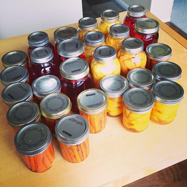 Beautiful Jars of Put Up Food