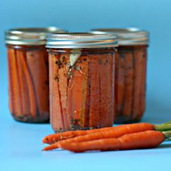 Spicy Pickled Carrots Canning Recipe + 4 Other Canning Recipes from Canadian Food Bloggers
