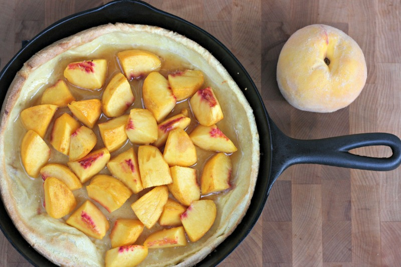 Cast Iron Skillet Peach Puff Pancake Recipe 1