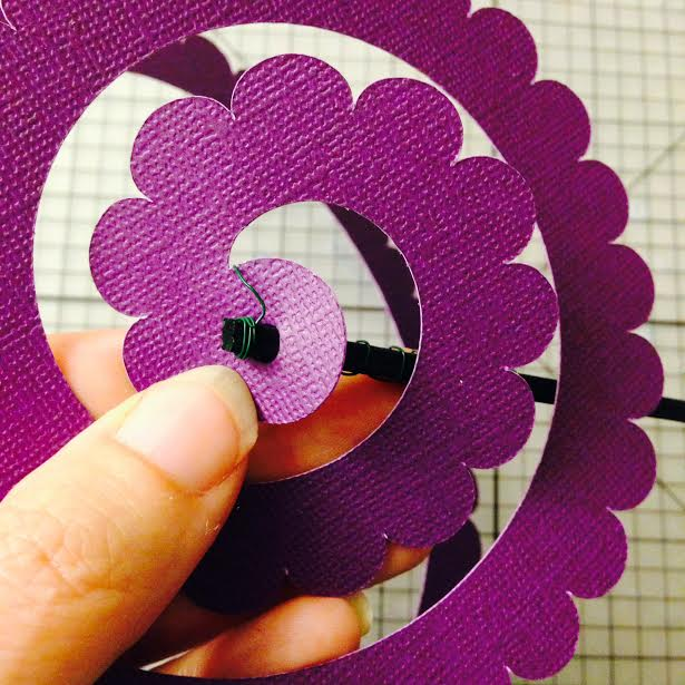 Diy paper wedding bouquet and matching flower girl barrettes cricut cricut paper flower instructions 1 mightylinksfo Choice Image