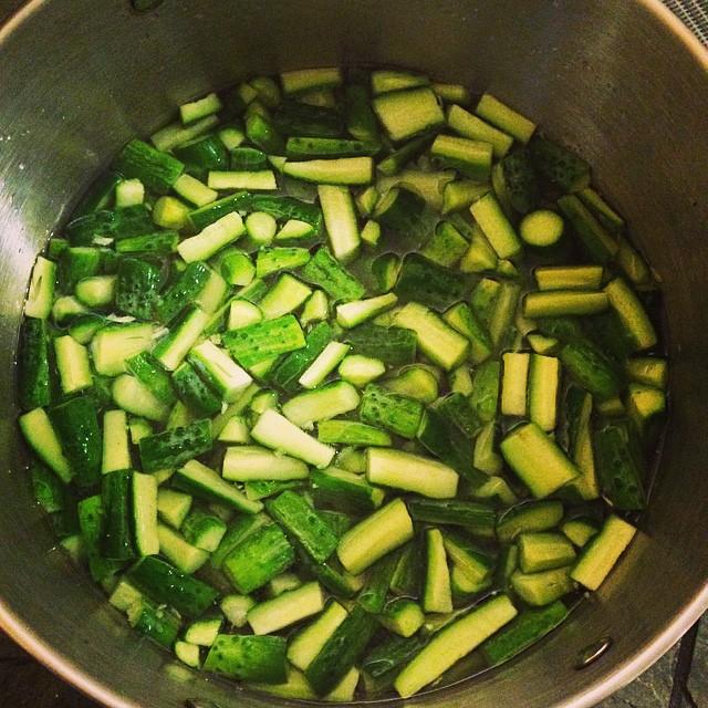 Cucumber Brining