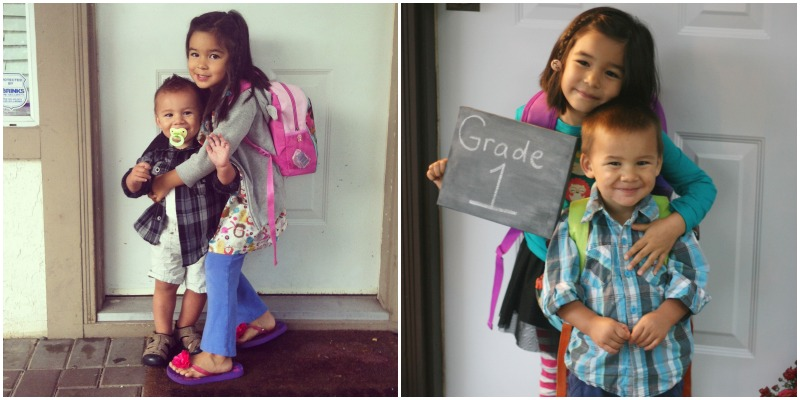 First day of school 2013 and 2014