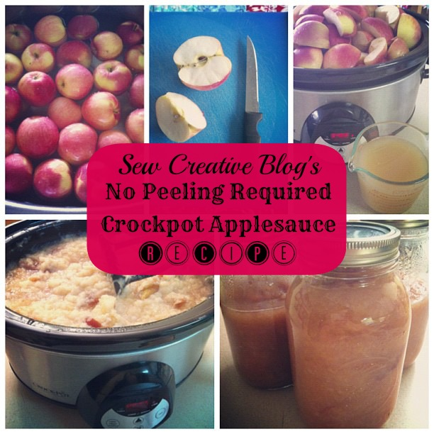 No Peeling Required Crockpot Apple Sauce Recipe