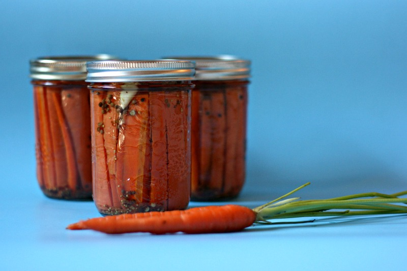 Spicy Pickled Carrots Canning Recipe from Sew Creative