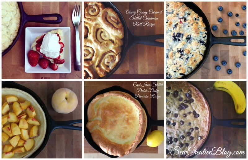 Cast Iron Skillet Collage From Sew Creative