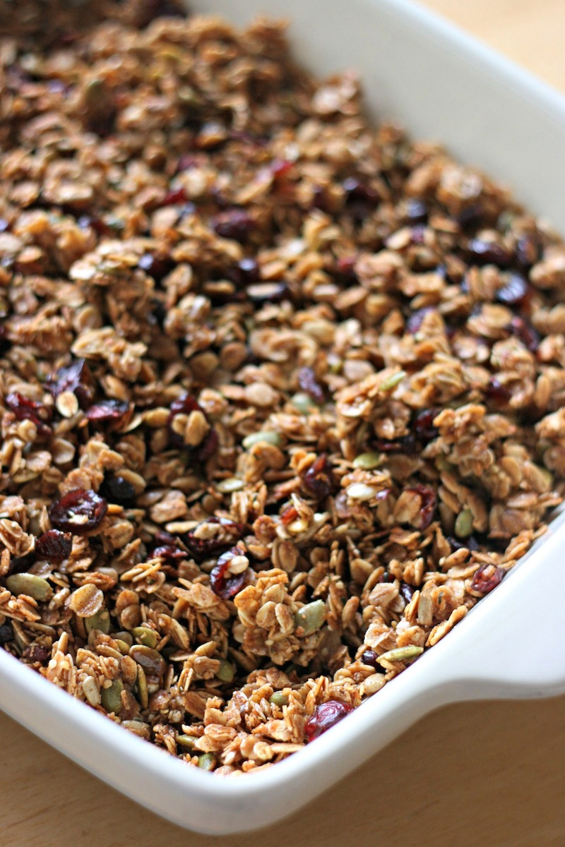 Cranberry Pumpkin Seed Granola Recipe With Hemp Hearts Sunflower Seeds And Coconut Oil Hello Creative Family