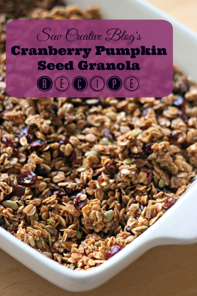 Cranberry Pumpkin Seed Granola Recipe with sunflower seeds, hemp hearts, coconut & coconut oil. Delicious, nutritious & easy. My kind of recipe! Worth eating breakfast for!