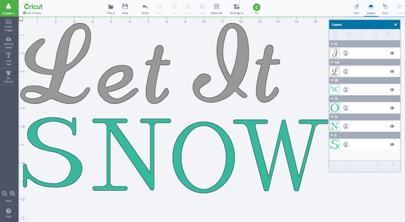 Cricut Design Space Let It Snow