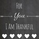 For You I Am Thankful