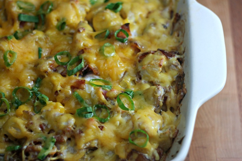 Fully Loaded Chicken and Potato Casserole Recipe