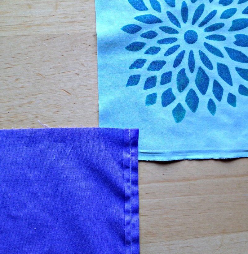 Sew Creative Blog's How to Make a One Of A Kind Envelope Pillow Sewing Tutorial. Paint your pillow using Royal Design Studio St