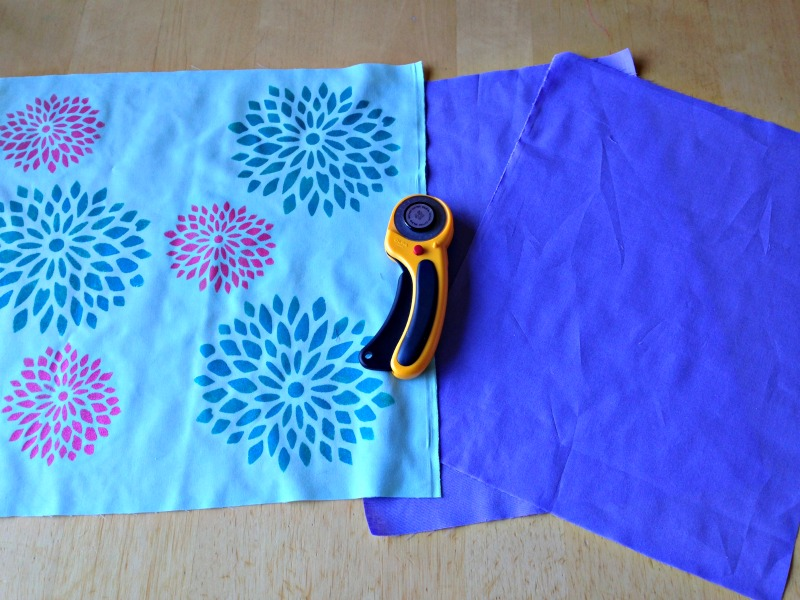 Sew Creative Blog's How to Make a One Of A Kind Envelope Pillow Sewing Tutorial. Paint your pillow using Royal Design Studio Stencils then sew the pillow in 15 minutes! So easy.